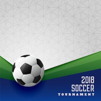 2018 projekt plakatu sportowego turniej piłki nożnej