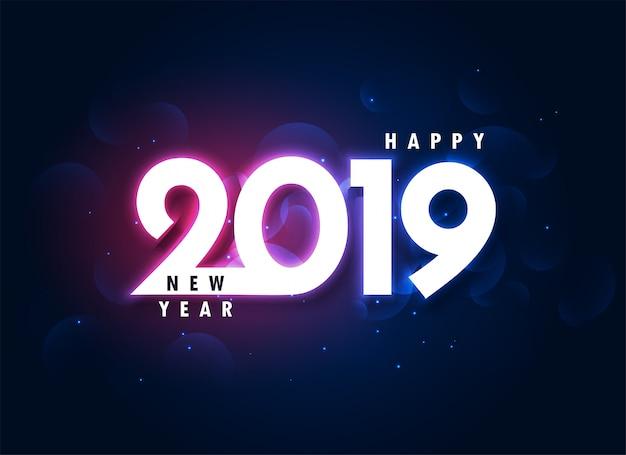 2019 kolorowe szczęśliwego nowego roku świecącym tle