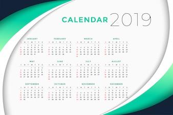 2019 koncepcji projektu kalendarza biznesowego