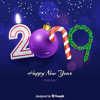 2019 nowy rok tło