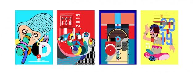 2019 nowy szablon projektu plakatu i okładki