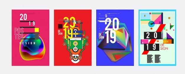 2019 plakat szablon projektu