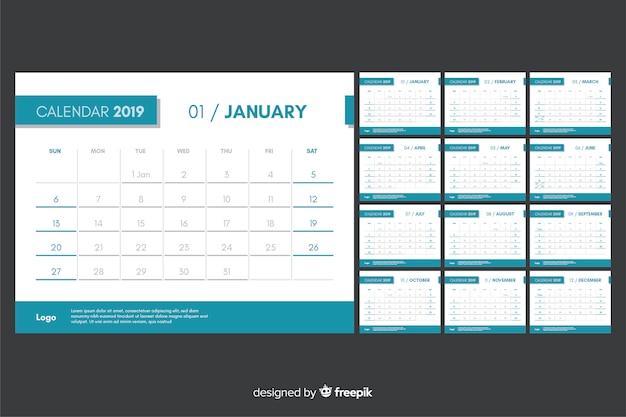 2019 szablon kalendarza