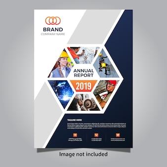 2019 szablon okładki rocznego raportu biznesowego