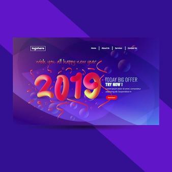 2019 Szczęśliwego Nowego Roku Abstrakcyjne Tło