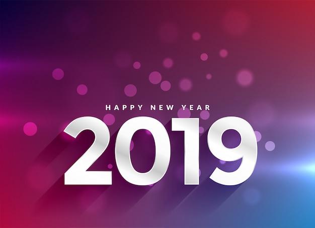 2019 szczęśliwego nowego roku bokeh tła