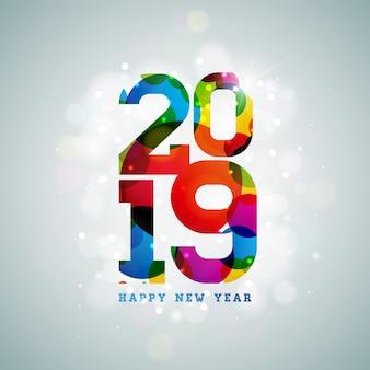 2019 szczęśliwego nowego roku ilustracji
