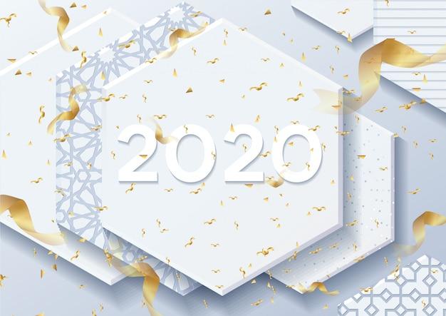 2019 szczęśliwego nowego roku tło dla sezonowych ulotek