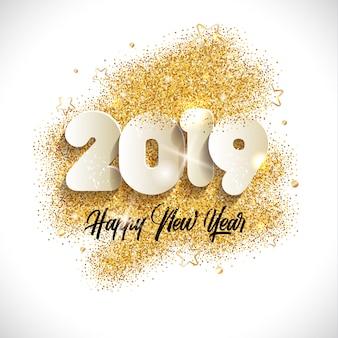 2019 szczęśliwego nowego roku tło.