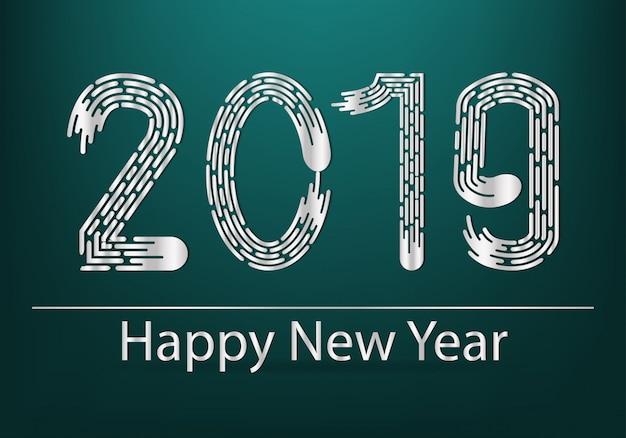 2019 szczęśliwego nowego roku złote tło pozdrowienia karty.
