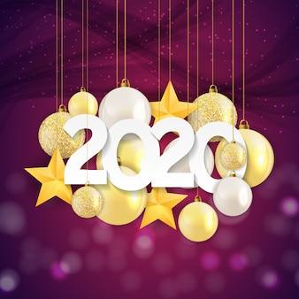 2020 nowy rok i wesołych świąt bożego narodzenia tło.