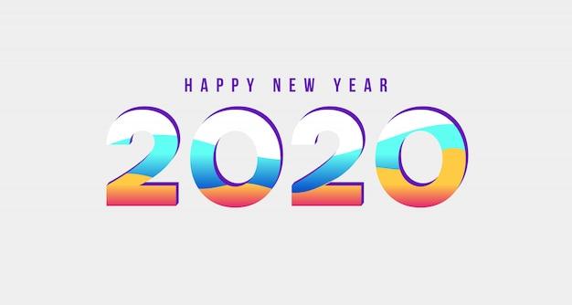 2020 nowy rok nowoczesny