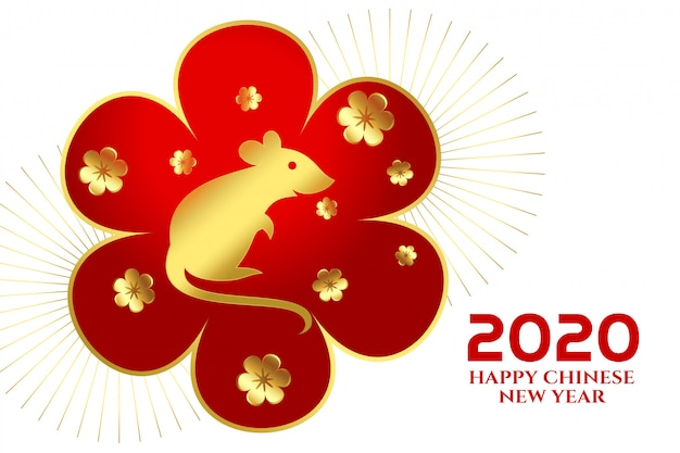 2020 szczęśliwego chińskiego nowego roku festiwalu szczurów