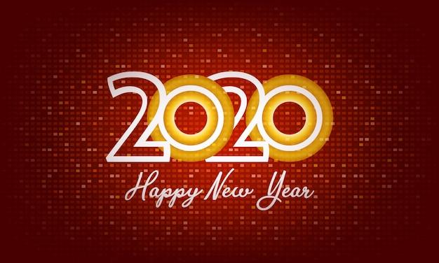 2020 szczęśliwego nowego roku backgorund