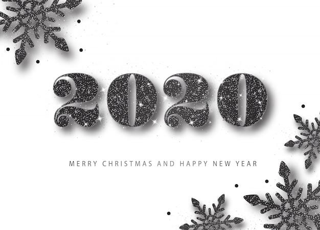 2020 szczęśliwego nowego roku. ilustracja wakacje.