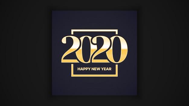 2020 szczęśliwego nowego roku luksusowe eleganckie karty z pozdrowieniami