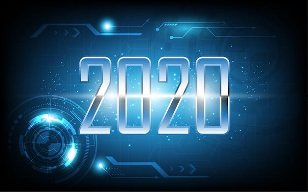 2020 szczęśliwego nowego roku na temat technologii streszczenie kartkę z życzeniami
