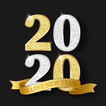 2020 szczęśliwego nowego roku tło