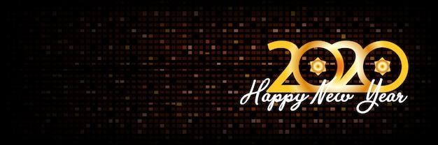2020 szczęśliwego nowego roku transparent tło