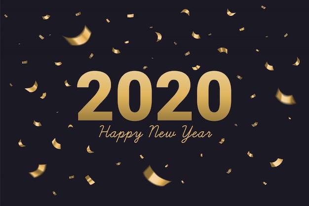 2020 szczęśliwego nowego roku złoty tekst