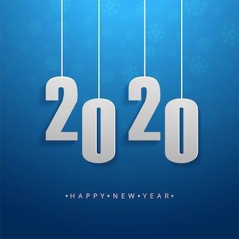 2020 tekst szczęśliwego nowego roku wakacje wektor karty