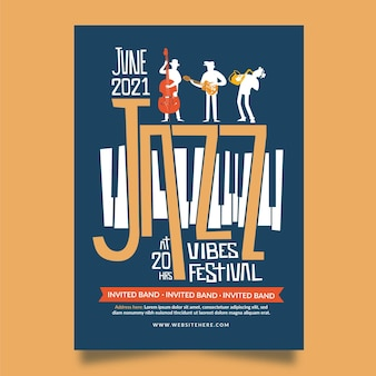 2021 ilustrowany plakat festiwalu muzycznego