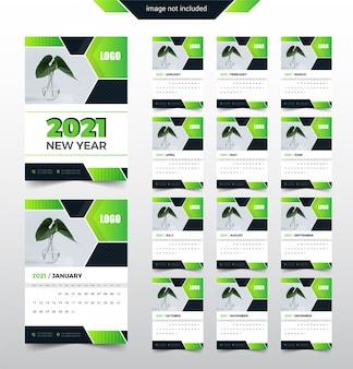 2021 kolorowy streszczenie kalnedar szablon projektu. tydzień zaczyna się od poniedziałku