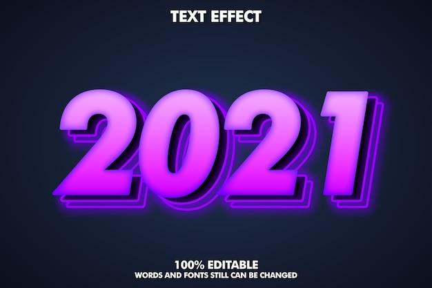 2021 nowoczesny błyszczący efekt tekstowy