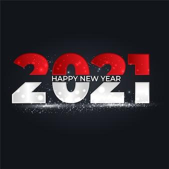 2021 nowy rok czarne tło