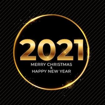 2021 nowy rok i wesołych świąt bożego narodzenia tło