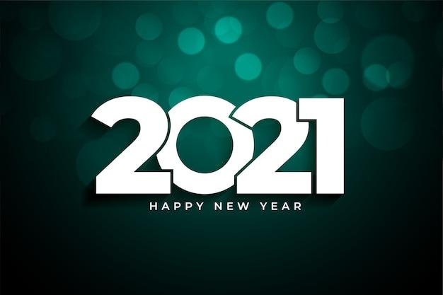 2021 szczęśliwego nowego roku tło bokeh
