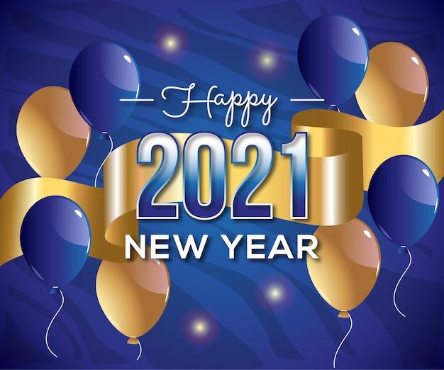 2021 szczęśliwego nowego roku tło