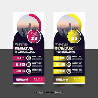 2022 corporate roll up banner signage standee