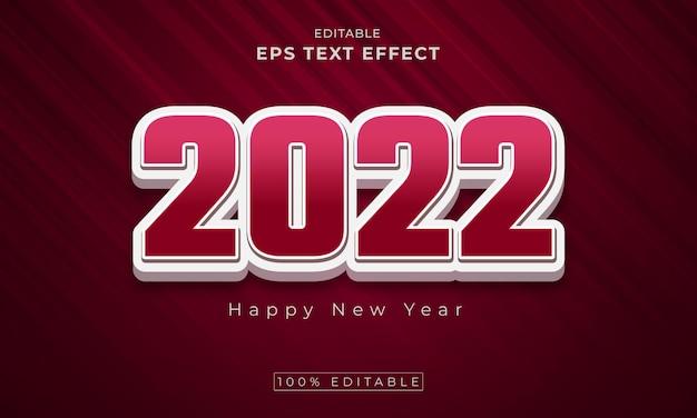 2022 edytowalny 3d efekt tekstowy wektor premium wektorów premium
