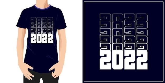 2022 projekt typografii gotowy do etykiety kubek lub drukowania premium wektorów