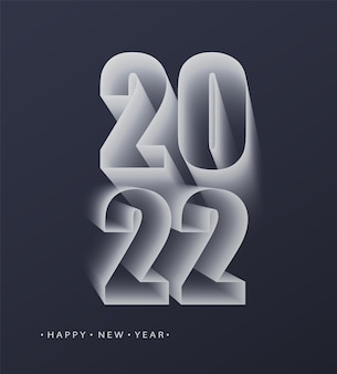2022 szczęśliwego nowego roku. liczby w minimalistycznym stylu. wektor liczb liniowych. projekt karty z pozdrowieniami. ilustracja wektorowa.