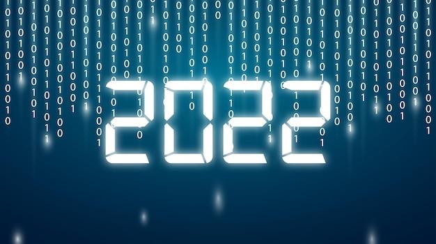 2022 szczęśliwego nowego roku. numery 3d streszczenie styl. wektorowe liczby liniowe. projektowanie kart okolicznościowych. ilustracji wektorowych. wolny wektor