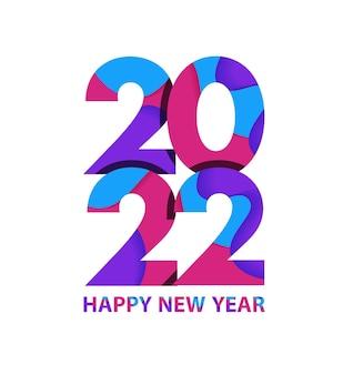 2022 szczęśliwego nowego roku, okładka dziennika biznesowego na rok 2022 z życzeniami. szablon projektu broszury, karty, baner. ilustracja wektorowa