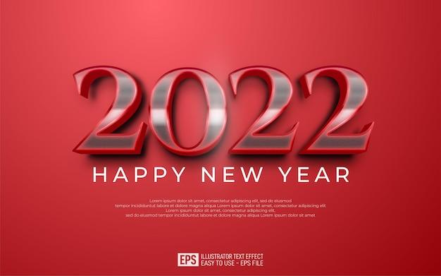 2022 szczęśliwego nowego roku projekt na czerwonym tle