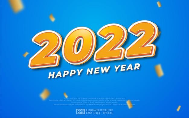 2022 szczęśliwego nowego roku świeży baner projektu