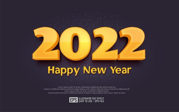 2022 szczęśliwego nowego roku świeży żółty sztandar projektu
