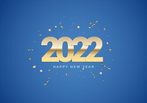 2022 szczęśliwego nowego roku tło plakat szablon ilustracja wektorowa