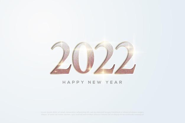 2022 szczęśliwego nowego roku z klasycznymi diamentowymi numerami