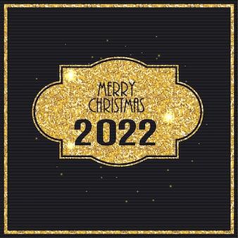 2022 szczęśliwego nowego roku złote błyszczące tło. ilustracja wektorowa. eps10