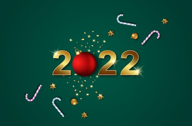 2022 ze świąteczną dekoracją