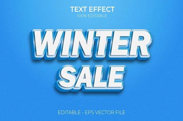 2022 zimowa wyprzedaż efekt tekstowy nowy creative 3d edytowalny wektor premium z pogrubionym tekstem
