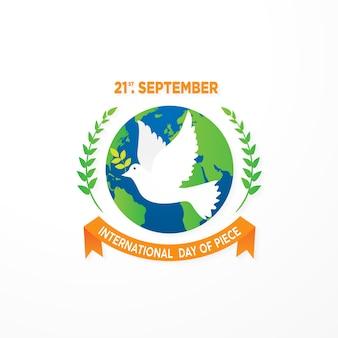 21 września dzień pokoju szablon tło