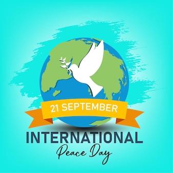 21 września, międzynarodowy dzień pokoju. ilustracja koncepcja obecnego pokoju na świecie.