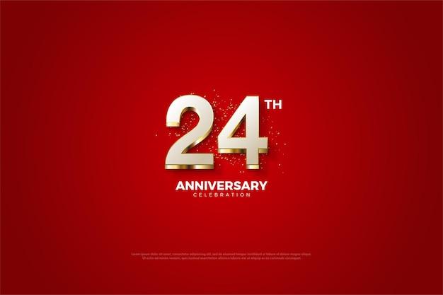 24. rocznica z luksusowymi pozłacanymi numerami