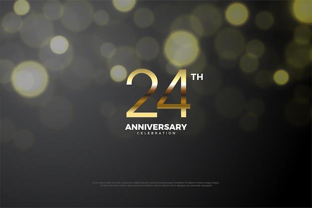 24. rocznica ze złotymi cyframi